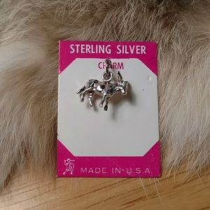 Sterling silver Donkey Burro charm